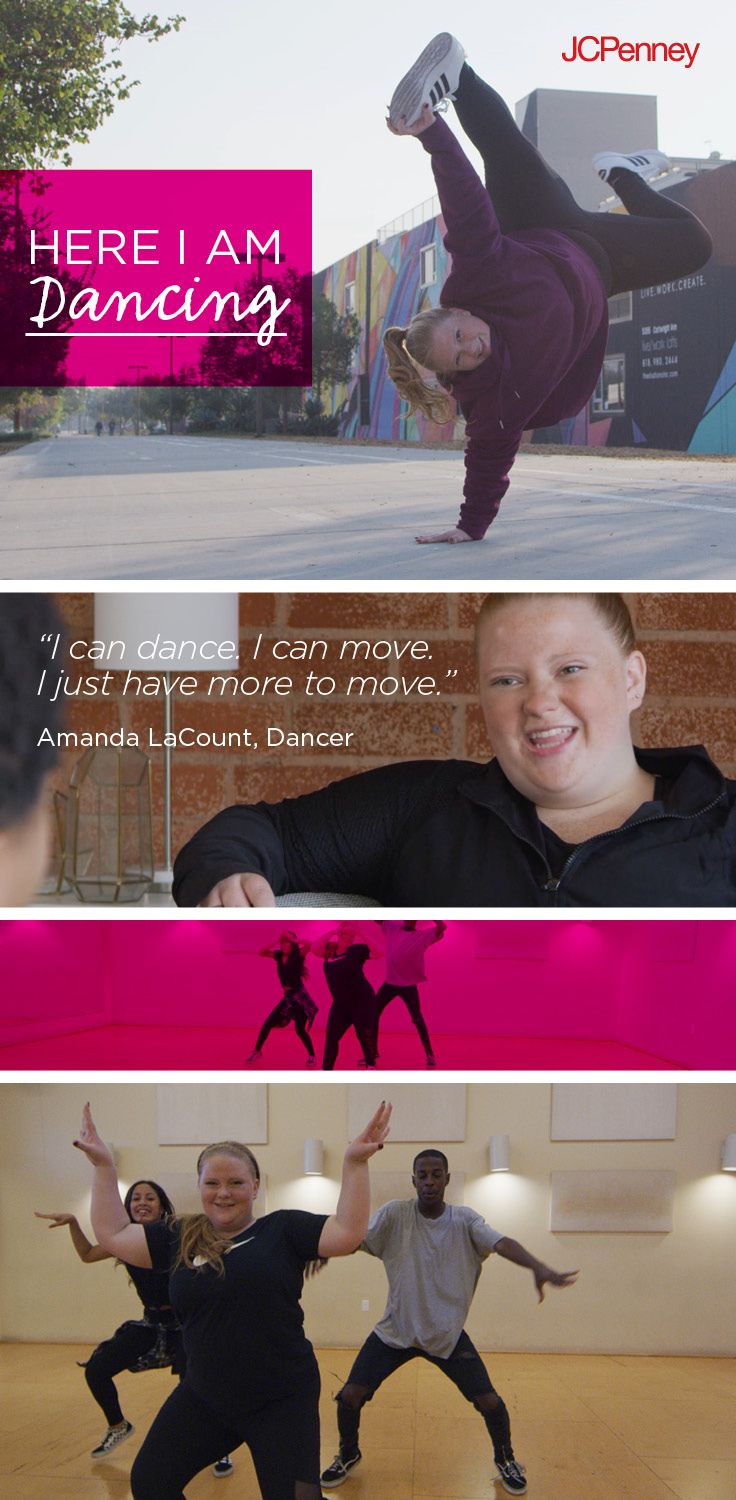 Tap to shop! // Hip hop dancing is how Amanda LaCount stays active. Get inspired this year and try something new. Start by shopping plus size active clothes at JCPenney for every body. Every moment. Everywhere. From Nike, Adidas, Xersion and more you'll find what being active means to you in 2018!
