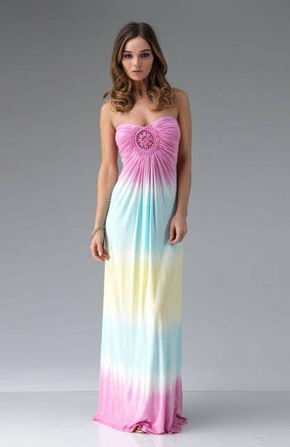 Tie Dye Pastels Dress In 2018 Pinterest Dresses Wedding And