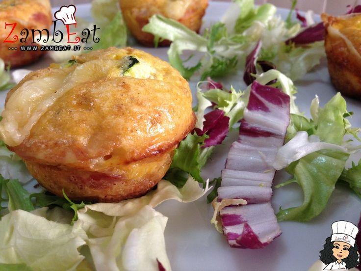 Muffin di Frittata con Pancetta Arrotolata -