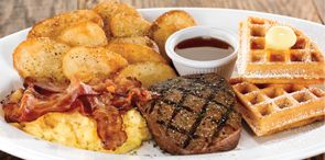 How about a tasty bite of Overloaded Brunch Platter , another delicious American O'riginal from O'Charley's.