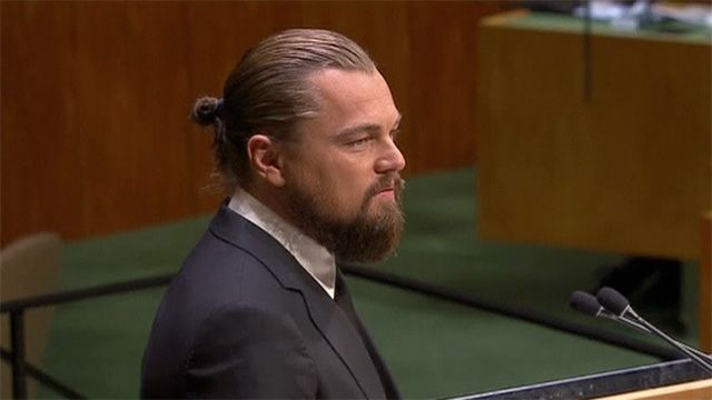Leonardo DiCaprio speaks at UN climate change summit - video