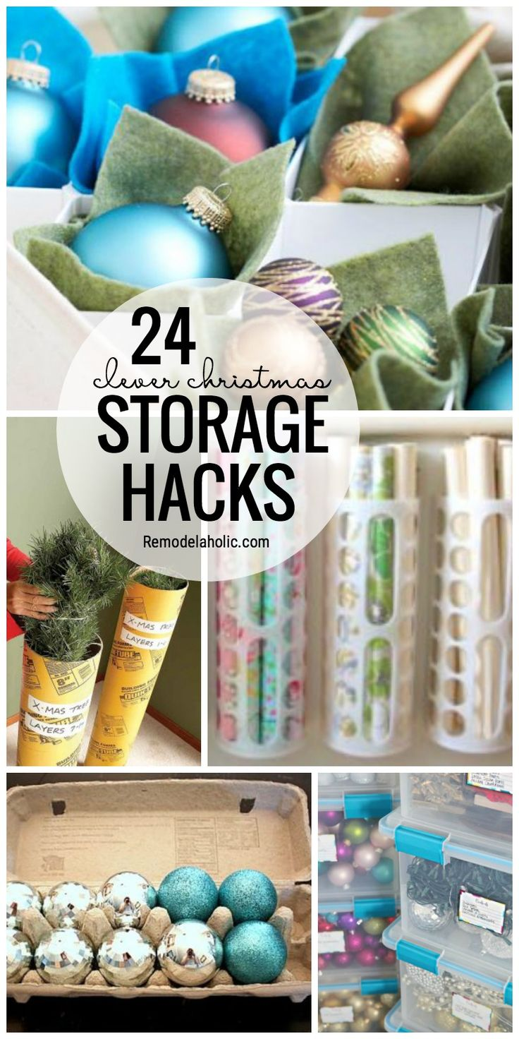 Don't Let Christmas Storage Get You Frustrated, We've Got You Covered With 24 Clever Christmas Storage Hacks Featured On Remodelaholic.com