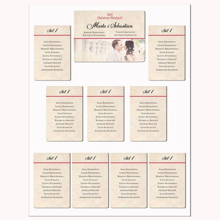 Piękne ręcznie robione plany stołów weselnych z Waszym zdjęciem