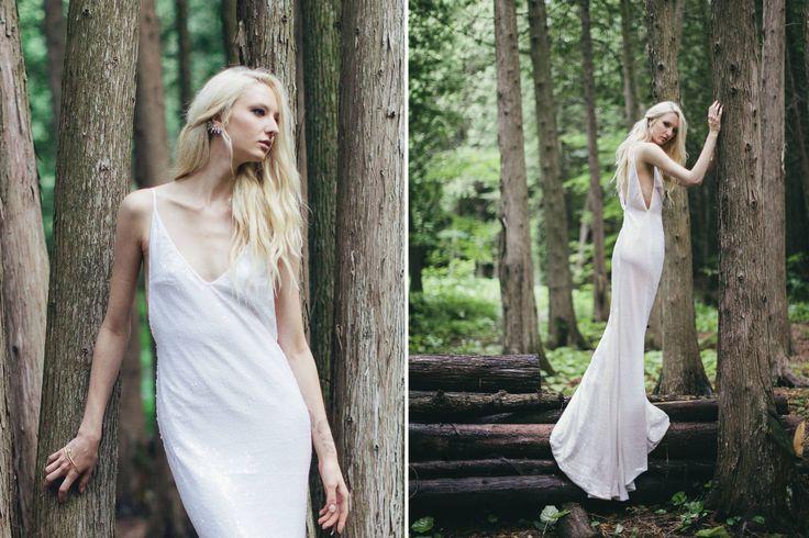 The Brooklyn: full length sequin wedding dress.