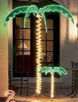 "7 Foot High ""LED"" Lighted Tropical Palm Tree - 5 Times Brighter than Incandescent Bulbs"