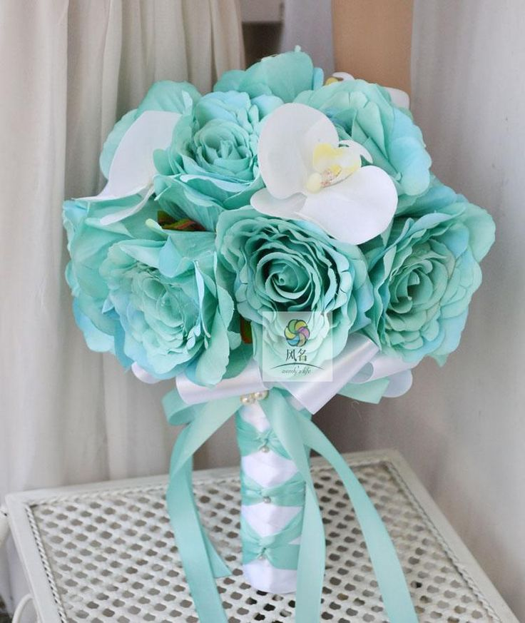 southern blue celebrations teal tourquoise wedding bouquet ideas