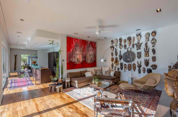 african living room decor
