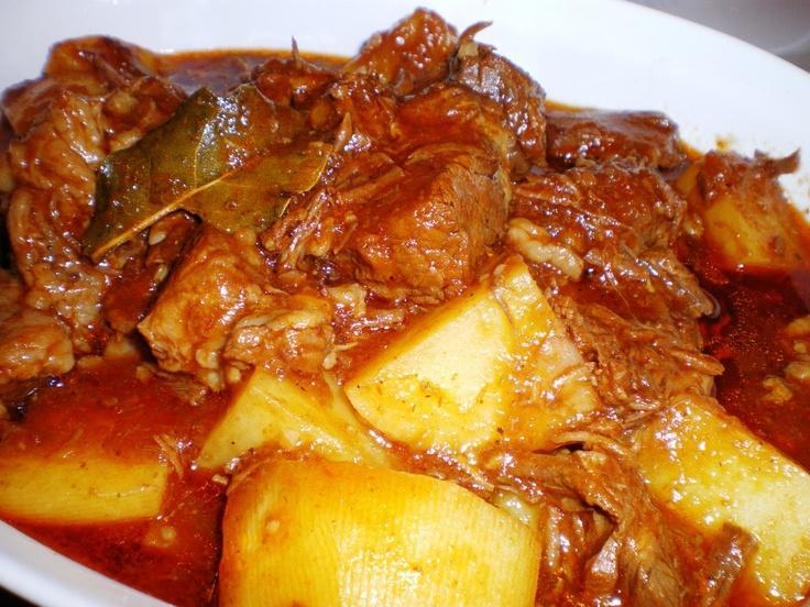 Beef Mechado (Stew with tomato sauce)