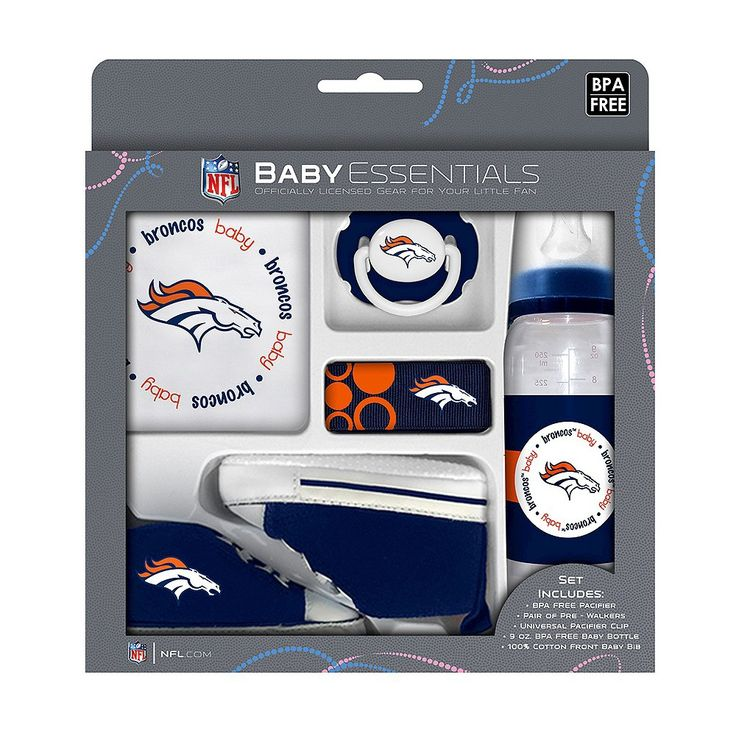 NFL Denver Broncos Baby Fanatic 5-Piece Gift Set