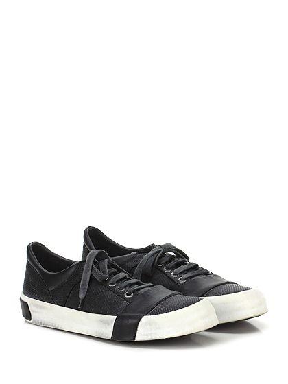 MOMA - Sneakers - Uomo - Sneaker in pelle lavorata effetto vintage con suola in gomma light vintage. Tacco 40. - NERO - € 265.00