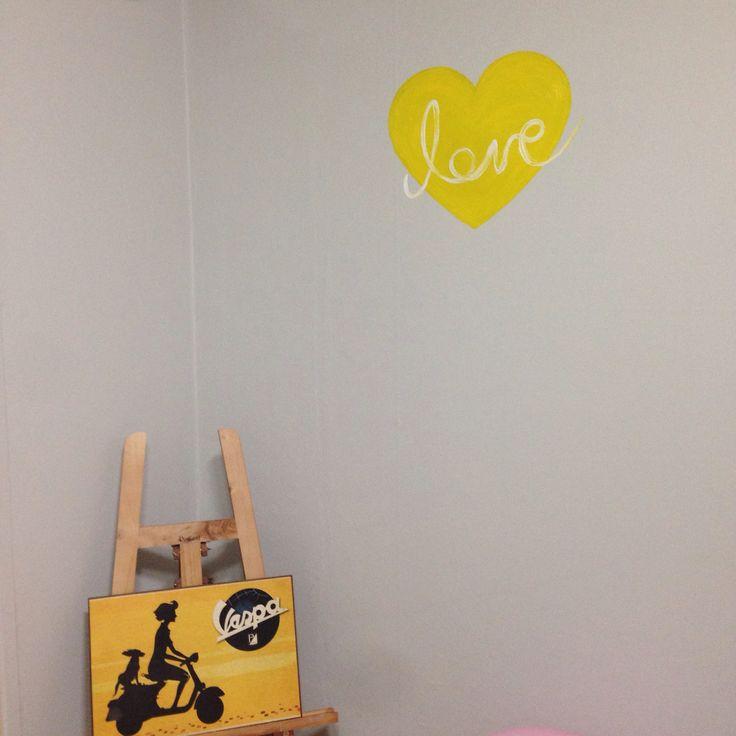 Love Paint Vespa Interior Oil painting
