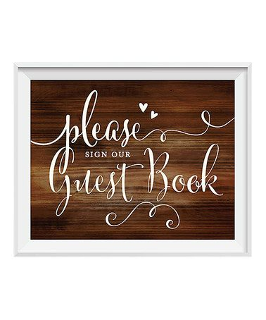 Loving this Framed 'Please Sign Our Guestbook' Wedding Sign on #zulily! #zulilyfinds