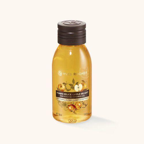 Yves Rocher : le flacon de bain douche pomme délice (50 ml - 1,50 €).