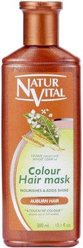 NATUR VITAL | Hair Coloring Treatment | Hair Mask N Auburn for Gray Hair 300ml (Japan Import). IMPORTANT NOTICE | Made for Japan market and in a Japanese retail package. Manual(s) is in Japanese only.