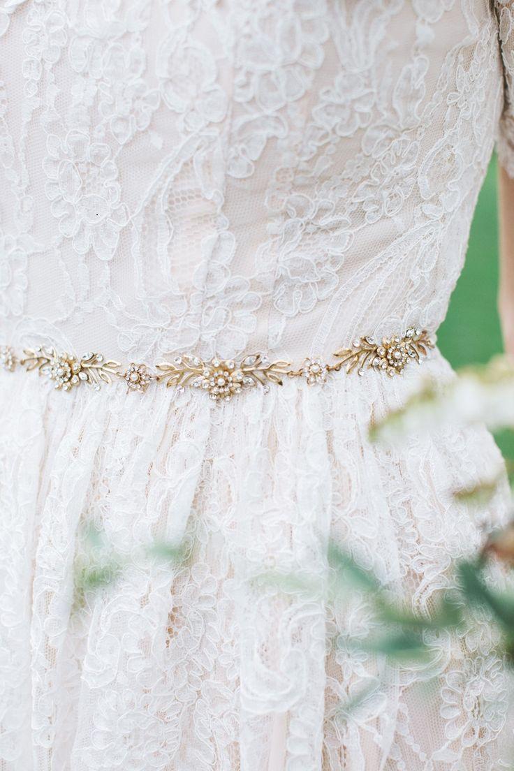 Gold belt for wedding dress   best Bridal Accessories images on Pinterest  Bridal accessories