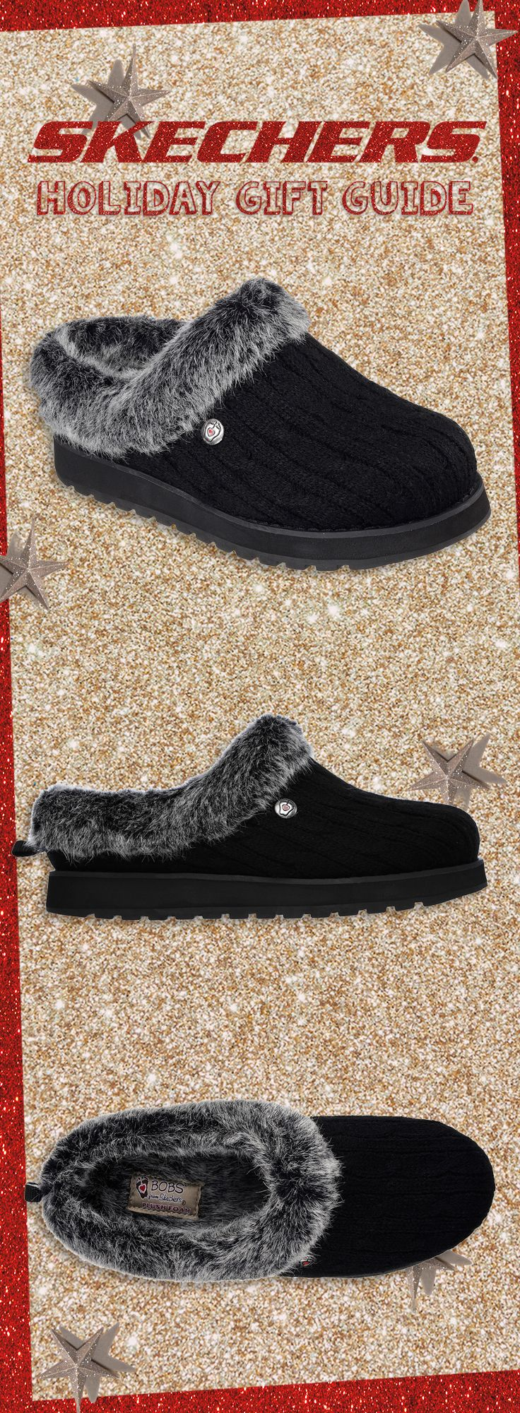 Stay cozy and comfortable in the Skechers BOBS Keepsakes slipper. #SKECHERSholiday