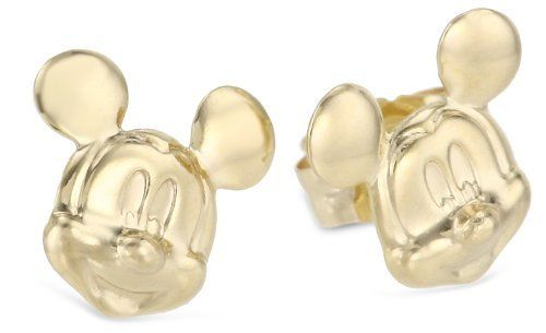 Disney Mickey 14kt Gold Mickey Mouse Girl's Stud Earrings Disney. $60.00. Made in Dominican Republic