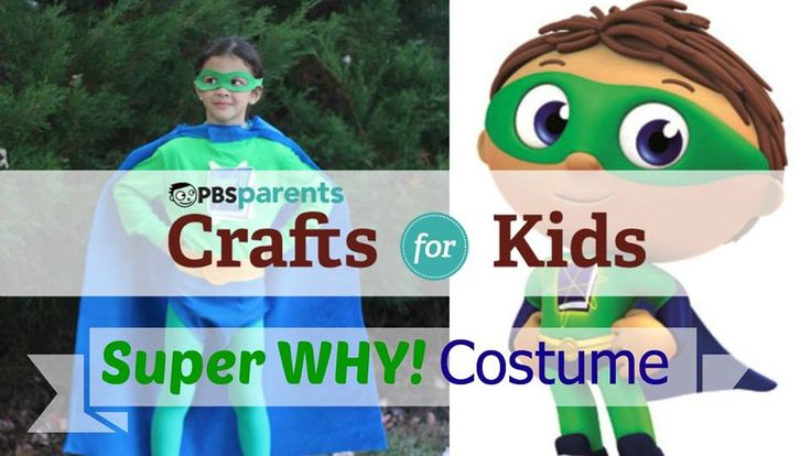 Super Why Costume--Hey Super You! Transform your favorite Super Reader into Super Why with this super awesome, no-sew costume!