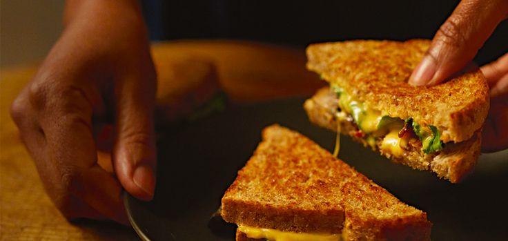 kraft bacon mushroom melt grilled cheese 139145 hero jpg