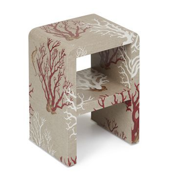 Linen wrapped side table from www.chicone.com