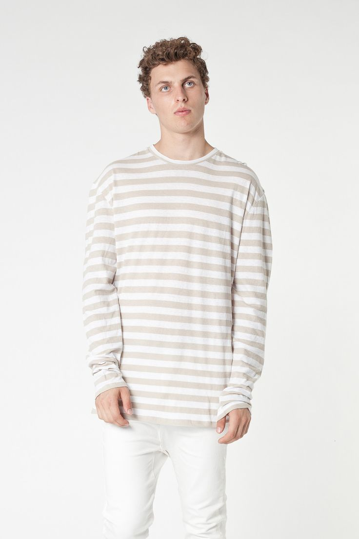 Assembly Label - Coffee Stripe L/S Tee