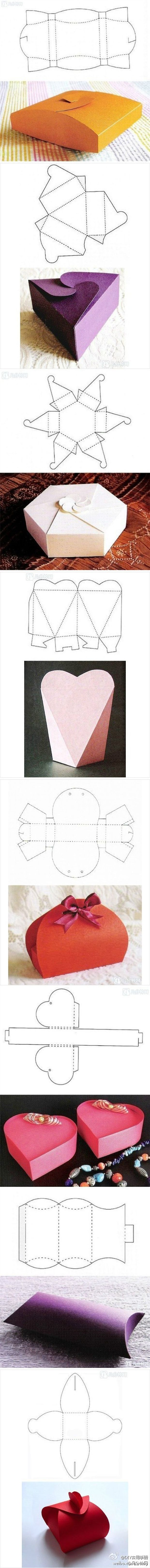 How To Fold Valentine's Day Boxes – 16 Pics