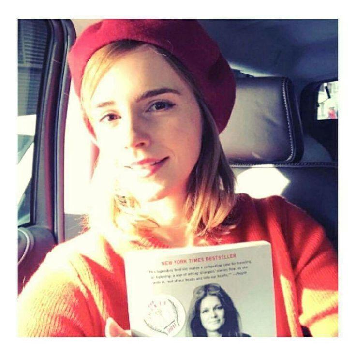 """❤NEWS❤  › ❀ INSTAGRAM • • @emmawatson: """"Oggi sono una ninja-rosso-fatina-dei-libri per diffondere le parole di alcune donne sagge. Felice festa della donna!  @bookfairiesworldwide #IWDOurSharedShelf #IWD #ADayWithoutAWoman""""  Crediti : She's Emma Watson   ~EmWatson"""