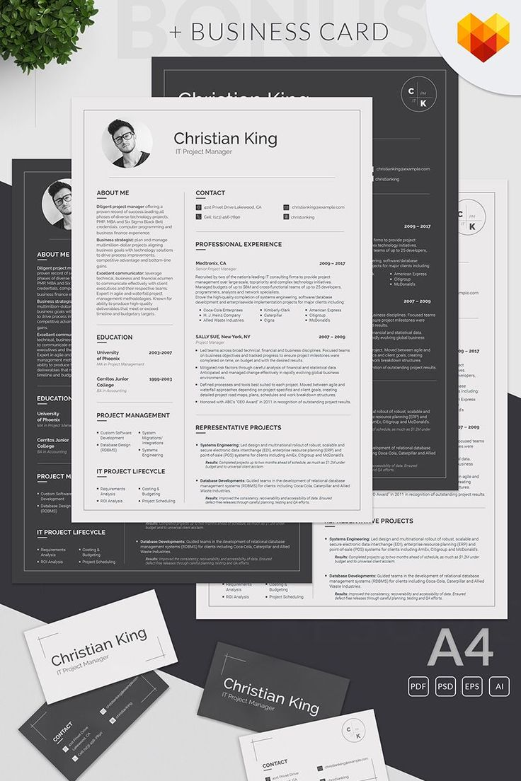 Christian King - Project Manager Resume Template #ProjectManagementTemplates