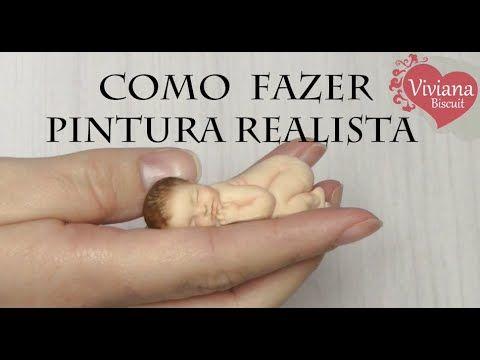 Viviana Biscuit: Como fazer a pintura do bebê recem nascido em biscuit, sombreamento - Viviana Biscuit