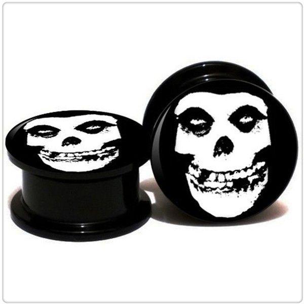 Amazon.com: Acrylic Misfits Logo Ear Gauge Plug And Tunnel 6mm-20mm... (7.99 NZD) ❤ liked on Polyvore featuring jewelry, earrings, logo earrings, acrylic jewelry, acrylic earrings, lucite jewelry and lucite earrings