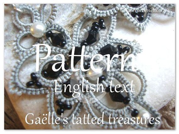 Tatting pattern: 5 pdf document with visual by gaestattedtreasures