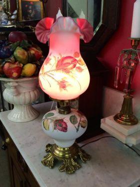 Victorian Style 60's Reproduction Lamp  $175  Butler Creek Antiques Dealer #8804  Lucas Street Antiques 2023 Lucas Dr. Dallas, TX 75219