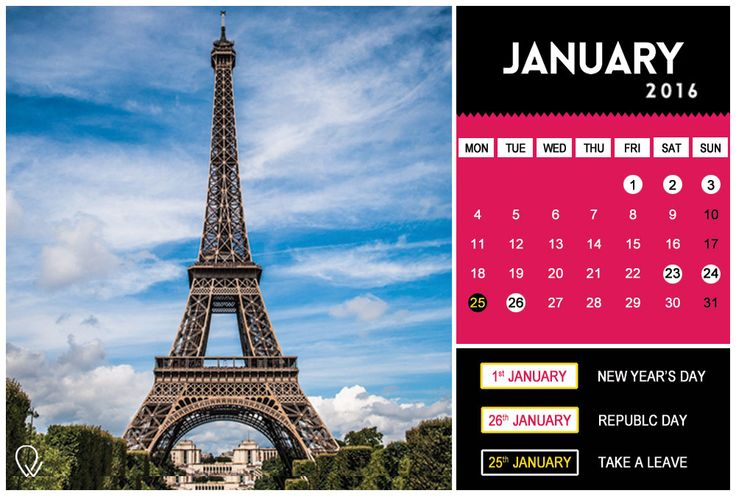 Woah! So many holidays in the month of January!  Plan your extended weekend trips with the #TheTripWorks