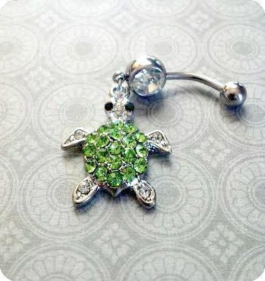fun sparkly belly ring