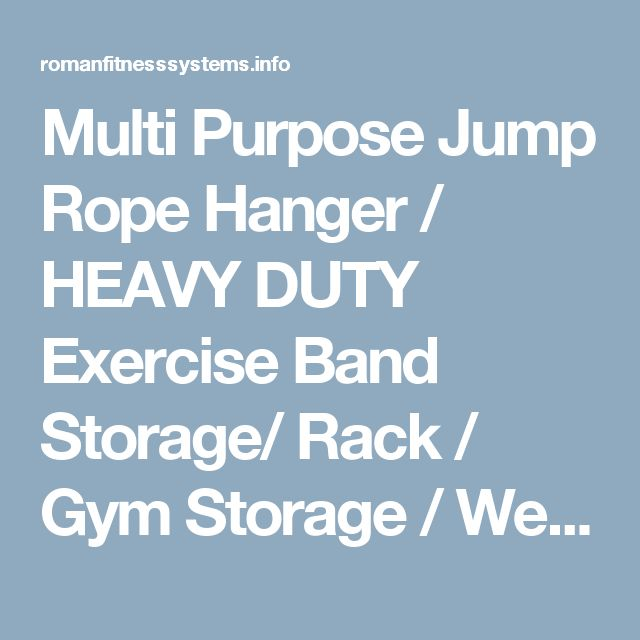 Multi Purpose Jump Rope Hanger / HEAVY DUTY Exercise Band Storage/ Rack / Gym Storage / Weight Lifting/Dip Belt Rack | Rogue Fitness Belt | Roman Fitness Systems - Your health and fitness is an important aspect of your life!