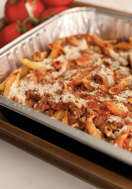 Hearty Baked Mostaccioli is a quick and easy comfort food option for any weeknight dinner. Pair it with a veggie salad for a complete meal.