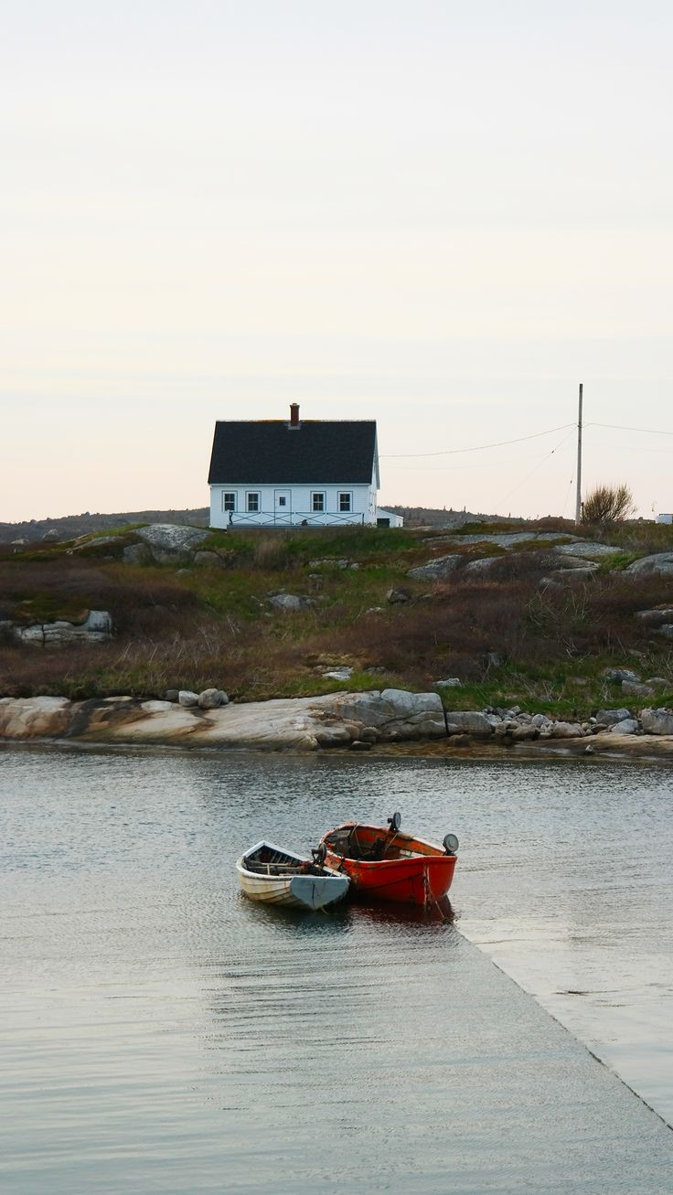 Peggy's Cove, Nova Scotia, Canada. A serene fishing village with world famous lighthouse.