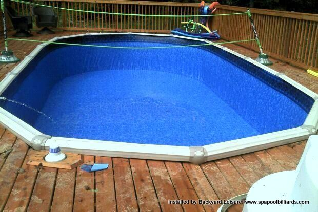 70 best hot tubs and pools installed by backyard leisure for Above ground pool decks with hot tub