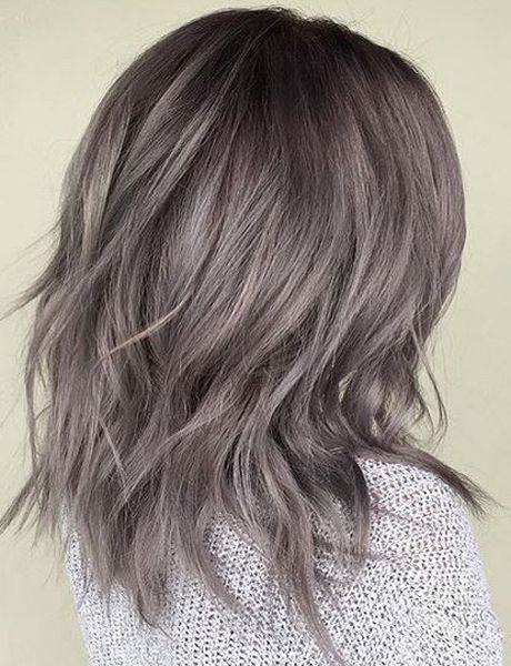 Metallic Pearl Gray Hair Color Ideas 2017 for Womens Over 40