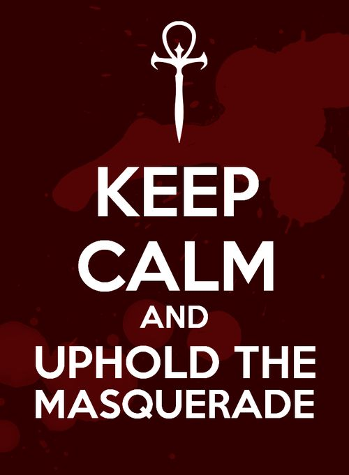 Vampire: The Masquerade. It would be amazing on a t-shirt