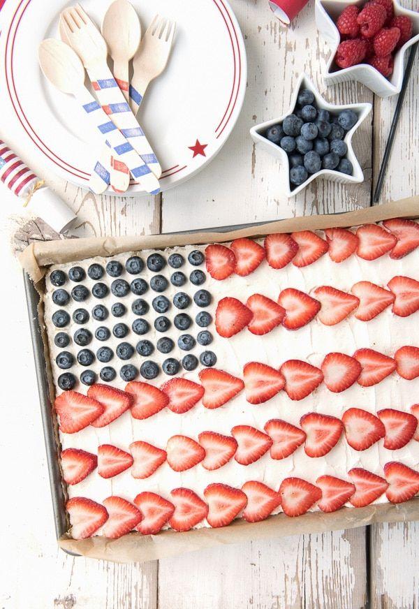 American Flag Fruit Cookie Dessert Pizza   Boulder Locavore