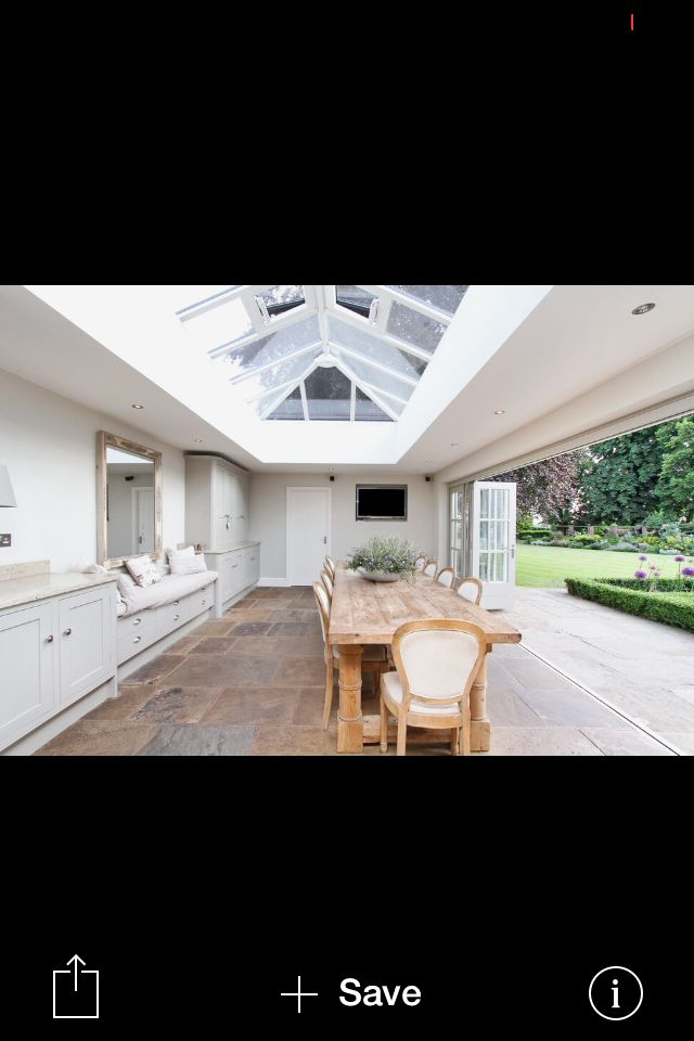 Great roof and bi fold doors.