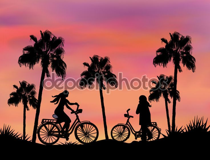 Bikers at Sunset - Stock Image: 65400967