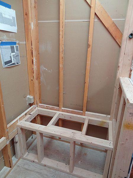 Shower Bench House Bathroom Pinterest Bathtub And