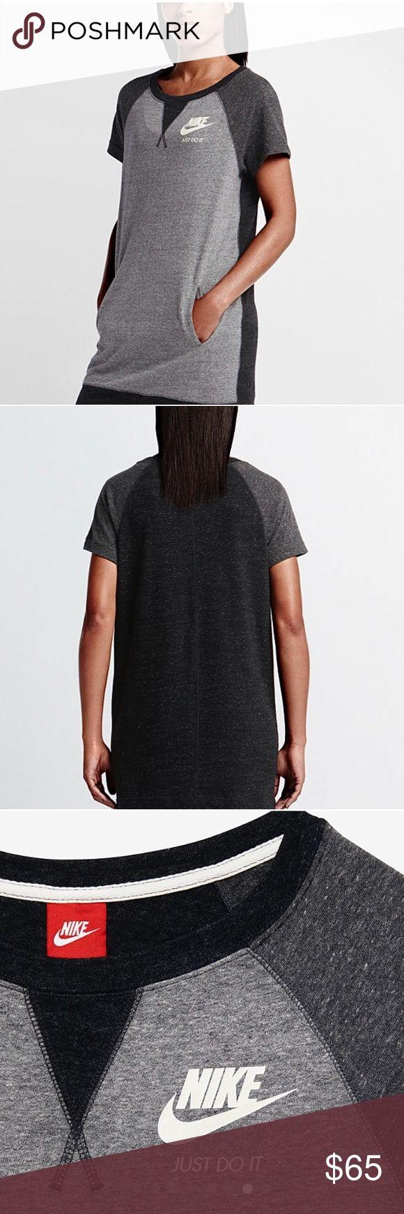Nike dress Nike dress.  NWT.  Designed for a relax feel.  Raglan sleeves.  Kangaroo pocket. Nike Dresses Mini