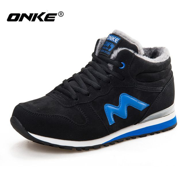 Today Offer $23.92, Buy Onke Winter Running Shoes Men Suede Leather Sport  Shoes Woman Running
