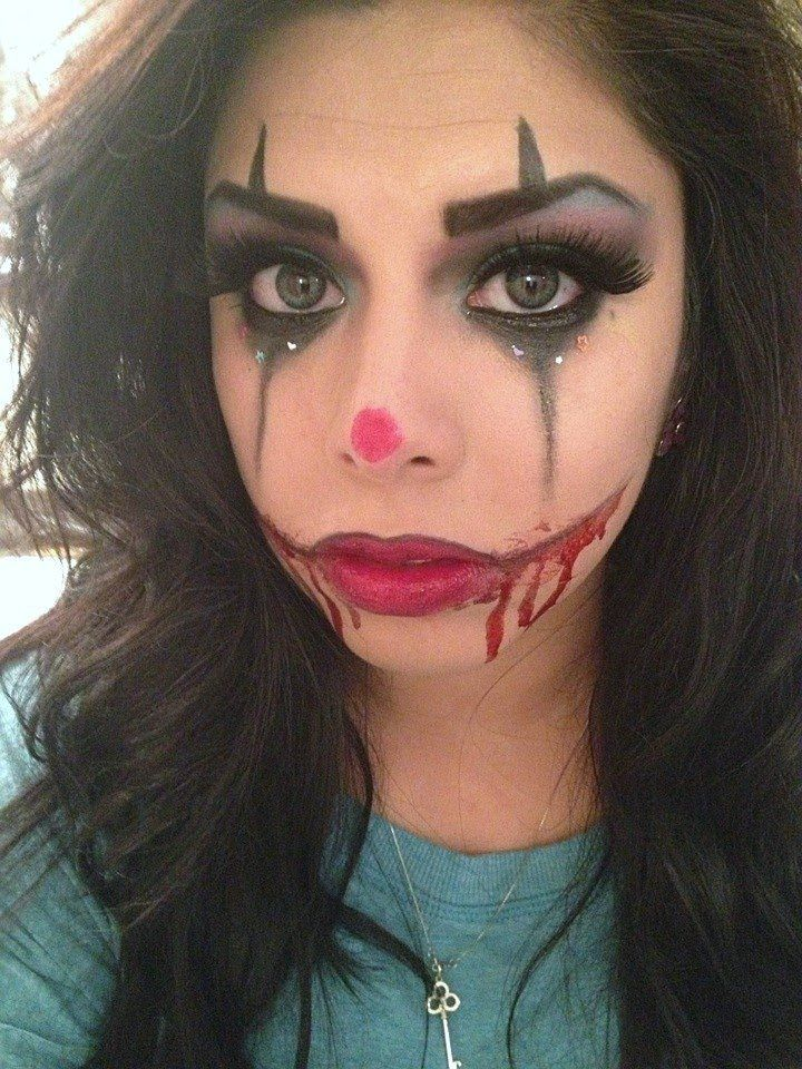 Sexy/Scary Clown Makeup | Makeup Tricks | Pinterest | Scary Clown Makeup Clown Makeup And Scary ...