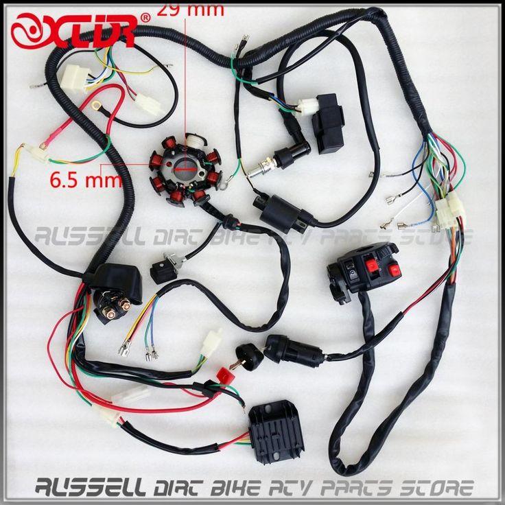 FULL ELECTRICS ATV Wire Loom Key Solenoid Magneto Ignition Coil Regulator CDI 200CC 250cc ATV Quad Bike