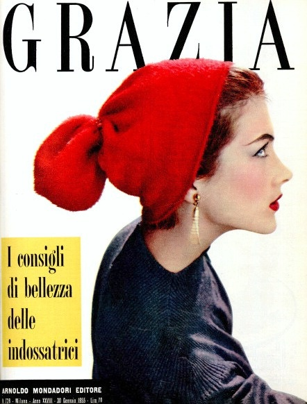 Model Rose Marie on the cover of Grazia, January 30,1955