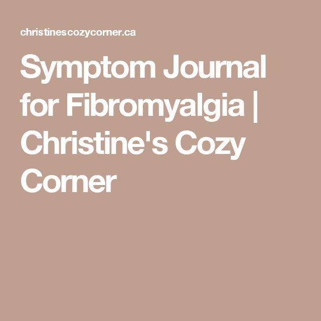Symptom Journal for Fibromyalgia | Christine's Cozy Corner